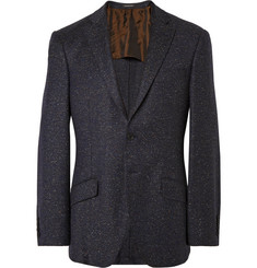 Richard James Navy Seishin Wool-Blend Mélange Blazer