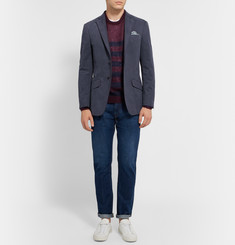 Richard James Navy Seishin Slim-Fit Brushed Cotton-Twill Blazer