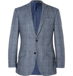 Richard James Blue Prince of Wales Checked Wool Blazer