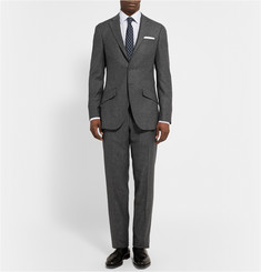 Richard James Charcoal Seishin Slim-Fit Slub Wool and Silk-Blend Blazer