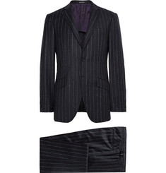 Richard James Midnight-Blue Seishin Slim-Fit Chalk-Striped Wool Suit