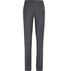 Richard James Grey Seishin Slim-Fit Slub Wool and Silk-Blend Trousers