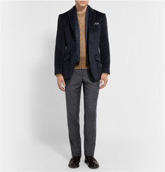Richard James Charcoal Seishin Slim-Fit Slub Wool and Silk-Blend Trousers