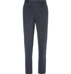 Richard James Navy Slim-Fit Cotton Trousers