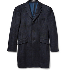 Richard James Seishin Slim-Fit Houndstooth Wool-Blend Tweed Overcoat