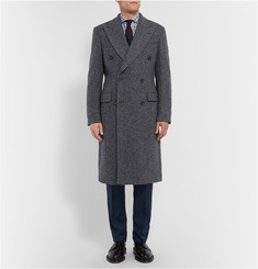 Richard James Slim-Fit Herringbone Wool-Blend Overcoat