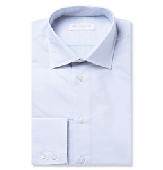 Richard James Blue Pin-Dot Cotton Shirt