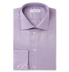 Richard James Lilac Birdseye Cotton Shirt