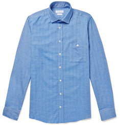 Richard James Slim-Fit Herringbone Cotton Shirt