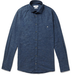 Richard James Flecked Cotton-Blend Shirt