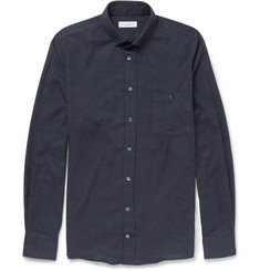 Richard James Button-Down Collar Checked Cotton Shirt