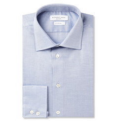 Richard James Blue Birdseye Cotton Shirt