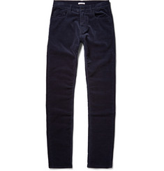 Tomas Maier Slim-Fit Brushed Cotton-Corduroy Trousers