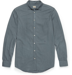 Massimo Alba Garment-Dyed Modal and Cotton-Blend Shirt