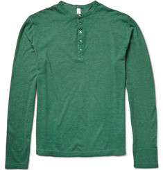 Massimo Alba Hawai Cotton and Cashmere-Blend Henley T-Shirt