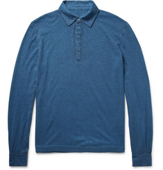 Massimo Alba Ischia Knitted Cotton and Cashmere-Blend Polo Shirt