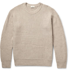 Club Monaco Horizontal Shaker Ribbed Merino Wool Sweater