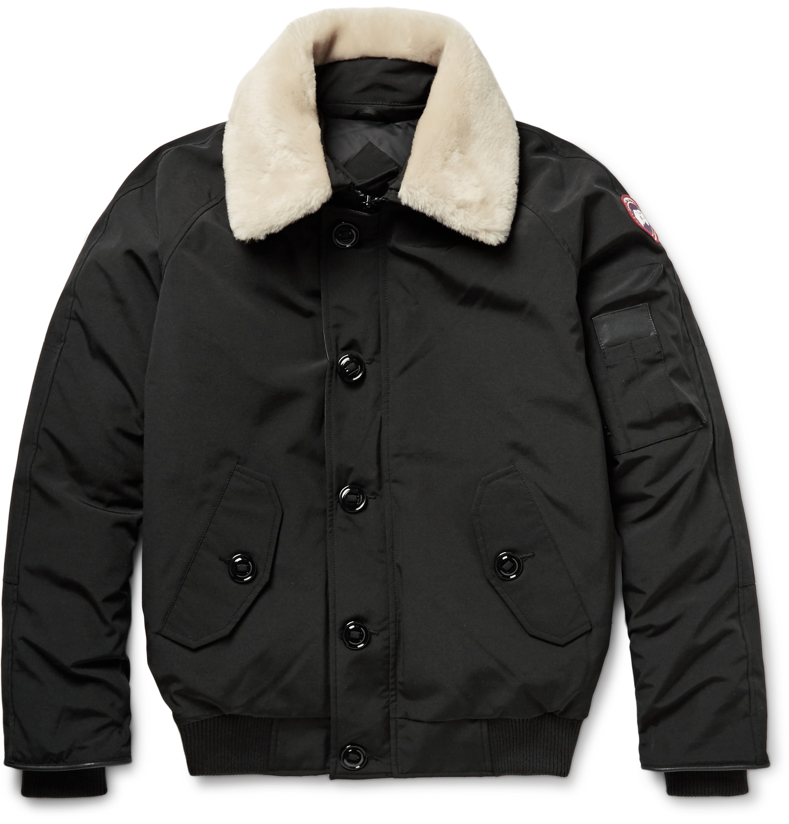 Canada Goose - Foxe Shearling and Leather-Trimmed Shell Down ...