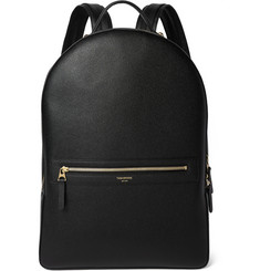 Thom Browne Pebble-Grain Leather Backpack