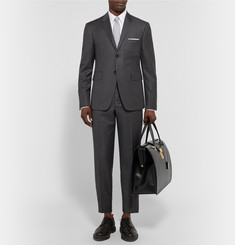 Thom Browne Polished-Leather Holdall