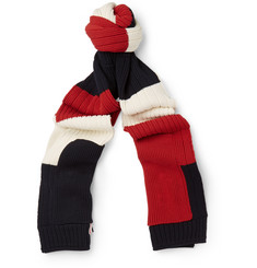 Thom Browne - Striped Cotton Scarf
