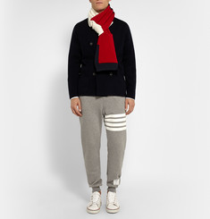 Thom Browne Striped Cotton Scarf