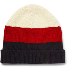 Thom Browne Striped Cotton Beanie