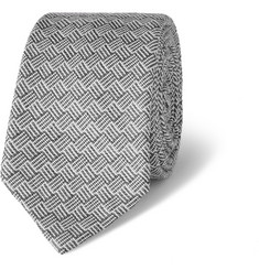Thom Browne Wool and Silk-Blend Jacquard Tie