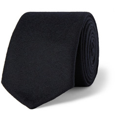 Thom Browne Slim Wool-Flannel Tie