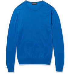 John Smedley Luke Fine-Knit Sea Island Cotton Sweater