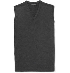 John Smedley Turner Fine-Knit Merino Wool Sleeveless Sweater