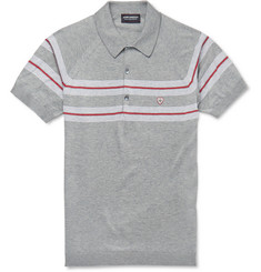 John Smedley Gear Sea Island Cotton Striped Polo Shirt