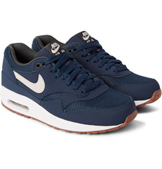 Nike Air Max 1 Essential Nubuck and Mesh Sneakers