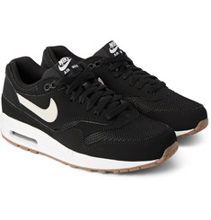 Nike - Air Max 1 Essential Nubuck and Mesh Sneakers