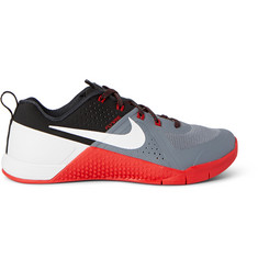 Nike Training Metcon 1 Perforated Rubber and Faux Suede Sneakers