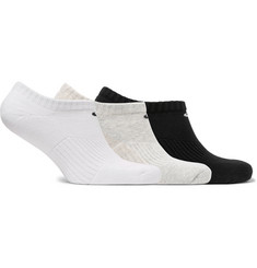 Nike - Three-Pack No-Show Cushioned Cotton-Blend Socks