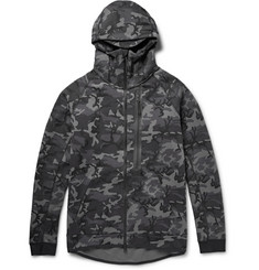 Nike Tech Camouflage-Print Cotton-Blend Jersey Hoodie
