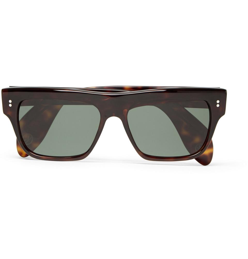 Cutler and Gross Square Frame Tortoiseshell Acetate Sunglasses Tortoiseshell