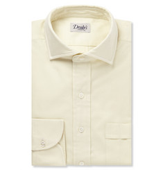 Drake's Cream Brushed-Cotton Shirt