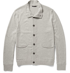 James Perse Funnel-Neck Cotton-Blend Cardigan