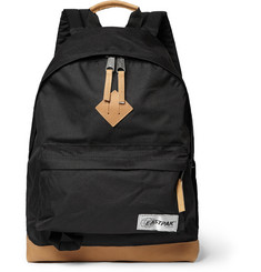 Eastpak Wyoming Leather-Trimmed Nylon-Canvas Backpack