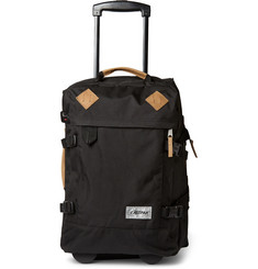 Eastpak Tranverz S Leather-Trimmed Wheeled Canvas Suitcase