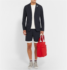 Beams Plus Slim-Fit Contrast-Hem Cotton-Blend Shorts