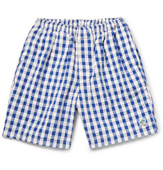 Beams Plus Gingham Seersucker-Cotton Swim Shorts