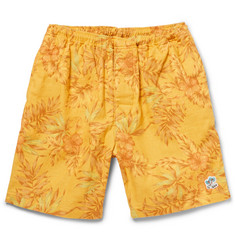 Beams Plus Floral-Print Cotton and Linen-Blend Swim Shorts