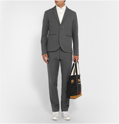 Folk Grey Cotton Suit Trousers