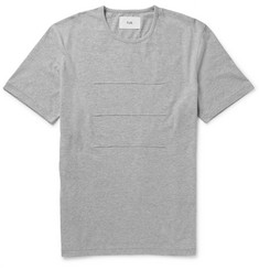Folk Textured-Stripe Cotton-Jersey Mélange T-Shirt