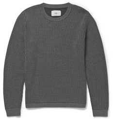 Folk Waffle-Knit Cotton-Blend Sweater