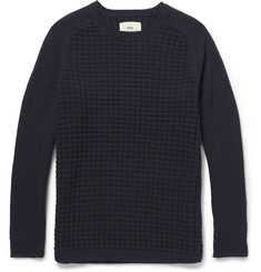 Folk Waffle-Knit Wool-Blend Sweater