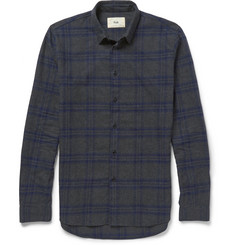 Folk Storm Checked Cotton-Flannel Shirt